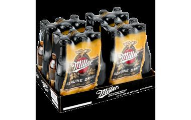 Miller's Premium Genuine Draft Beer Bottles 24 x 330m