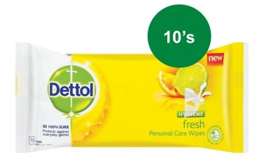 DETTOL HYGIENE WIPES FRESH (10 wipes in a pack)
