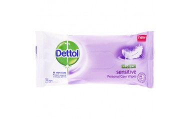 DETTOL HYGIENE WIPES SENSITIVE (10 wipes in a pack)