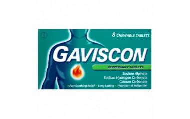 GAVISCON TABLETS PEPPERMINT