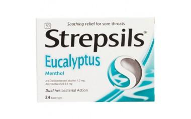 STREPSILS LOZENGES EUCALYPTUS MENTHOL