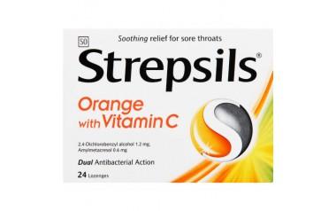 STREPSILS LOZENGES ORANGE C